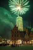I fuochi d'artificio mechelen Fotografie Stock