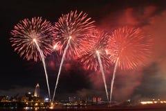 I fuochi d'artificio mostrano in Taiwan Fotografie Stock