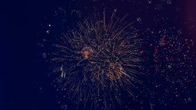 I fuochi d'artificio scintillanti esplodono nel cielo I fuochi d'artificio dei colori differenti splendono nel cielo scuro royalty illustrazione gratis