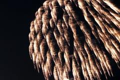 I fuochi d'artificio si chiudono su alla notte Fotografie Stock
