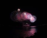 I fuochi d'artificio visualizzano e mostra Immagini Stock