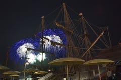 I fuochi d'artificio visualizzano il giorno del Canada a Toronto, SOPRA, il Canada Fotografia Stock Libera da Diritti