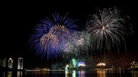 I fuochi d'artificio visualizzano a Putrajaya Fotografia Stock