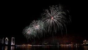 I fuochi d'artificio visualizzano a Putrajaya Fotografia Stock Libera da Diritti