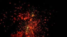 I fuochi d'artificio volano nel cielo stock footage