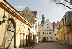 I gammala Riga arkivfoton