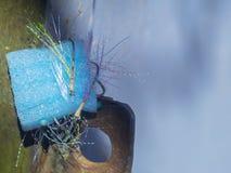 I ganci con i pezzi colorati di linea di pesca Immagini Stock Libere da Diritti
