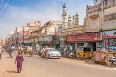 I gatan av Madurai Arkivbild