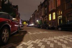 I gatorna av Amsterdam Nederländerna arkivfoton