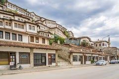 I gatorna av Berat arkivfoto