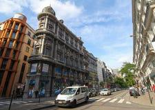 I gatorna av Brussells Belgien arkivfoto