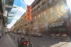 I gatorna av Brussells Belgien royaltyfri foto