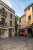 I gatorna av den gamla staden av Carcassonne Arkivbild