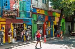 I gatorna av La Boca Arkivbild