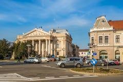 I gatorna av Oradea - Rumänien Arkivfoto