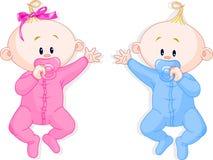 I gemelli tengono le tettarelle royalty illustrazione gratis