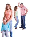 I genitori giurano ed i bambini soffrono. Immagine Stock