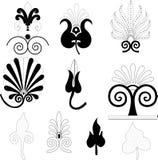 I germogli vector per gli ornamenti Fotografia Stock Libera da Diritti