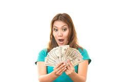 I get paid. I was glad to get the money Royalty Free Stock Photography