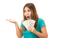 I get paid. I was glad to get the money Stock Photography