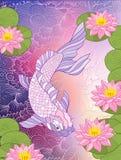 I giapponesi multicolori dell'illustrazione abbelliscono con il monte Fuji e la t royalty illustrazione gratis