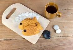 I giapponesi pescano il pancake a forma di Immagini Stock Libere da Diritti