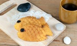 I giapponesi pescano il pancake a forma di Fotografia Stock