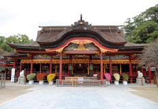 I giapponesi shrine in Kyushu, Giappone fotografia stock libera da diritti