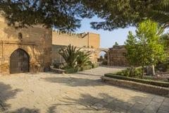 I giardini di Alcazaba Fotografie Stock Libere da Diritti