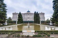 I giardini di Sabatini a Madrid, Spagna. Immagini Stock Libere da Diritti