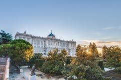 I giardini di Sabatini a Madrid, Spagna Fotografie Stock Libere da Diritti