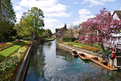 I giardini di Westgate a Canterbury Risonanza Immagini Stock