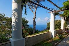 I giardini pubblici della villa San Michele, isola di Capri, mar Mediterraneo, Italia Fotografie Stock Libere da Diritti