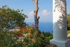 I giardini pubblici della villa San Michele, isola di Capri, mar Mediterraneo, Italia Fotografia Stock