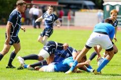 I giocatori di rugby partecipano alla seconda tappa del campionato europeo Fotografie Stock