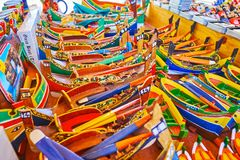 I giocattoli da Marsaxlokk, Malta fotografia stock libera da diritti