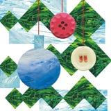 I giocattoli svegli di hristmas del  di Ñ appendono su un ramo dell'albero di Natale E illustrazione vettoriale