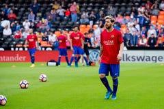 I giochi di Leo Messi alla La Liga abbinano fra il Valencia CF ed il FC Barcelona a Mestalla Fotografia Stock Libera da Diritti
