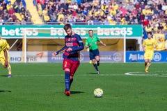 I giochi di Lionel Messi alla La Liga abbinano fra il Villarreal CF ed il FC Barcelona Fotografia Stock