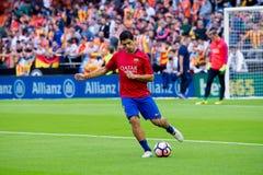 I giochi di Luis Suarez alla La Liga abbinano fra il Valencia CF ed il FC Barcelona a Mestalla Immagini Stock Libere da Diritti