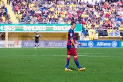 I giochi di Luis Suarez alla La Liga abbinano fra il Villarreal CF ed il FC Barcelona Fotografia Stock Libera da Diritti