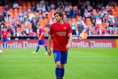 I giochi di Sergi Roberto alla La Liga abbinano fra il Valencia CF ed il FC Barcelona a Mestalla Fotografie Stock Libere da Diritti
