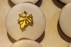I gioielli puri dell'oro Fotografia Stock