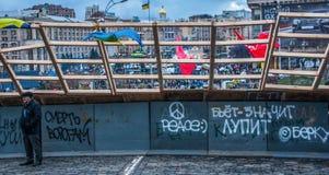 I giorni della protesta di Euromaidan, Kiev immagini stock