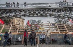 I giorni della protesta di Euromaidan, Kiev immagine stock libera da diritti
