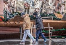 I giorni della protesta di Euromaidan, Kiev fotografie stock