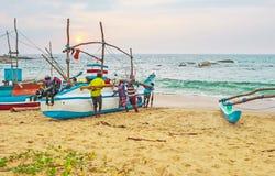 I giorni della settimana dei pescatori Fotografia Stock