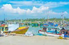 I giorni della settimana del porto di pesca Fotografia Stock