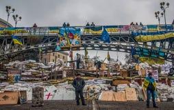 I giorni euromaidan a Kiev, l'Ucraina fotografie stock libere da diritti