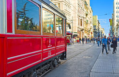 I giri del tram Immagini Stock